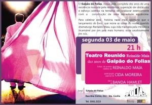 Convite Teatro reunido, de Reinaldo Maias e Grupo Folias