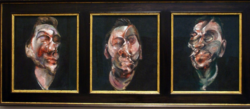 Three studies for a portrait of George Dyer, de Francis Bacon